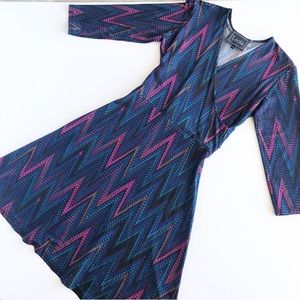 LEOTA handmade in NYC chevron jewel dress